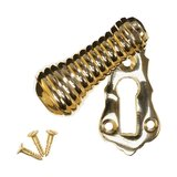 Keyhole Cover Escutcheon - Brass Beehive Teardrop (single) (VDK-23)