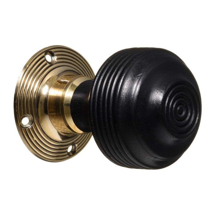 Georgian Door Knobs - Ebonised Reeded (pair) - Vintage Door Knobs ...