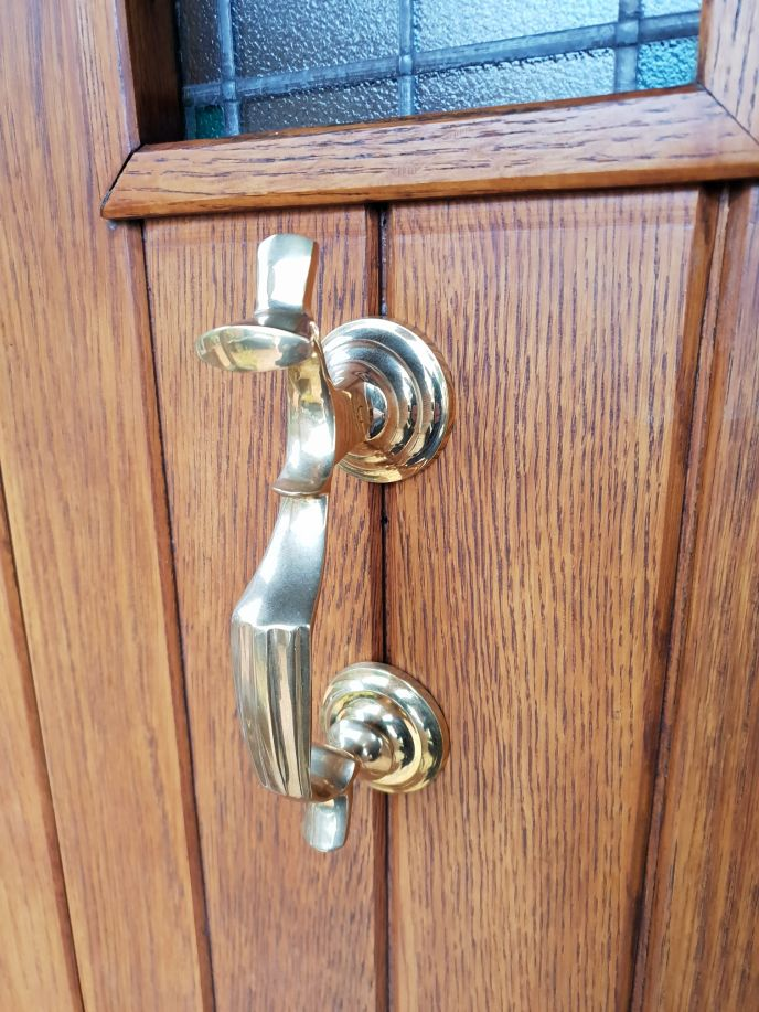 solid brass doctor's door knocker