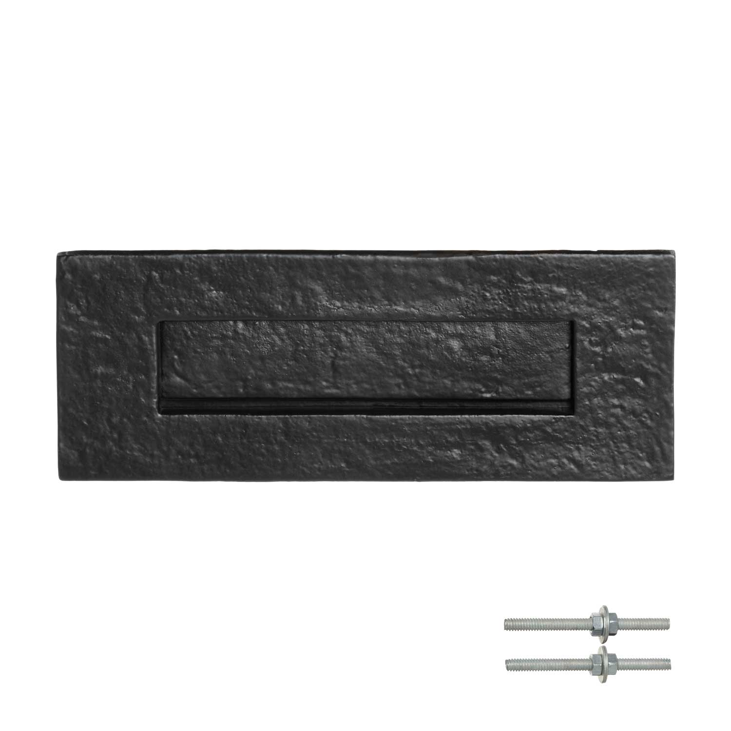 Cast Letter Plate Black Powder Coated Vintage Door