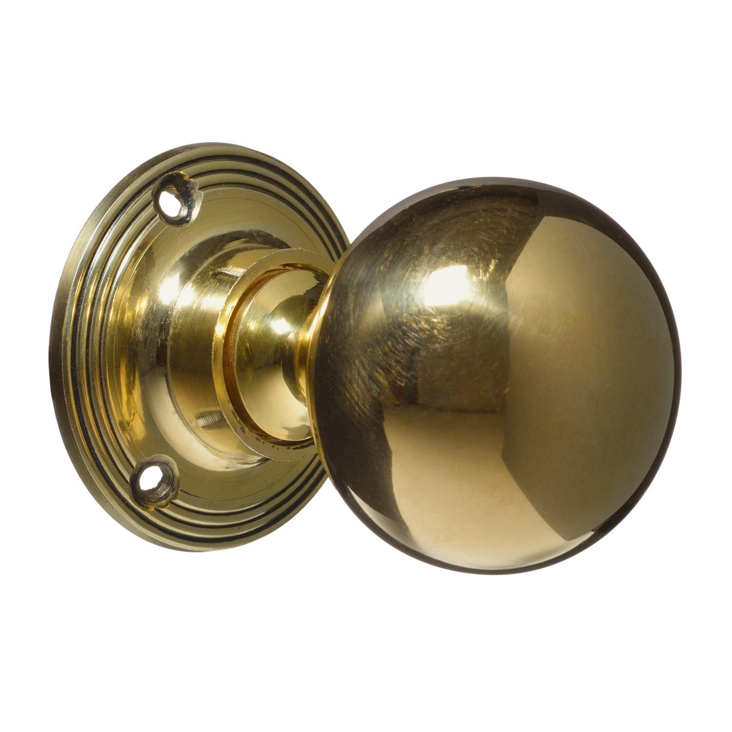 Victorian Door Handles Brass Plain Pair